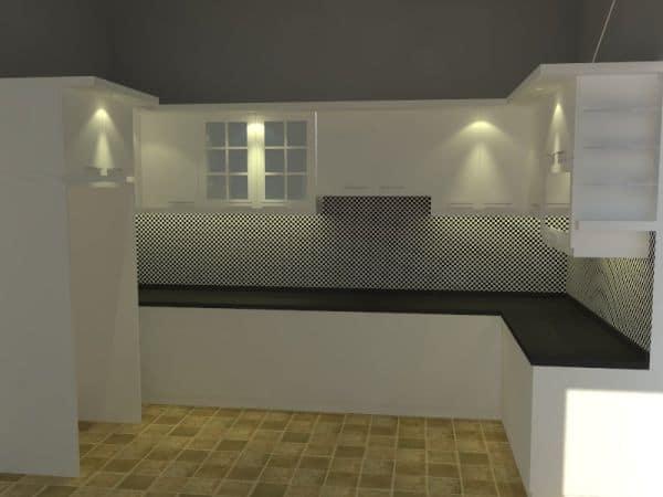 Kitchen set minimalis, Kitcent Set Letter L