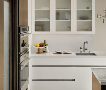 kitchen set atas kaca buram