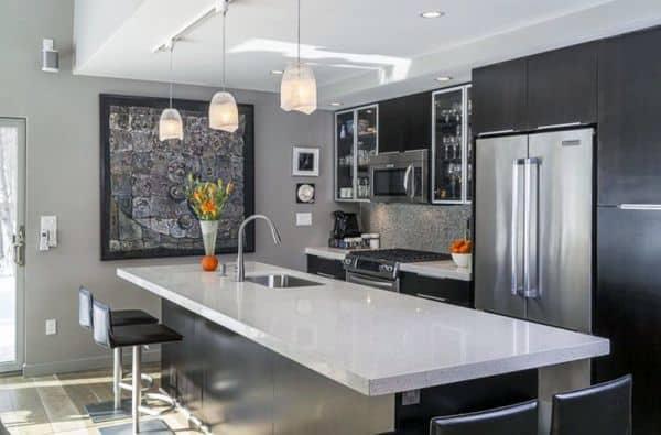 kabinet dapur warna campuran