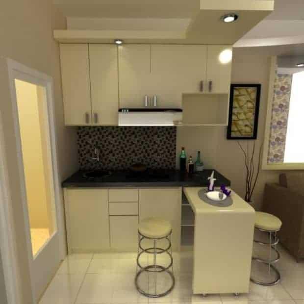 kitchen set apartemen studio minimalis bekasi