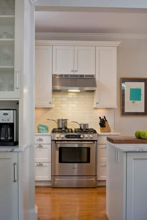 alat penghisap asap dapur rata dengan laci atas