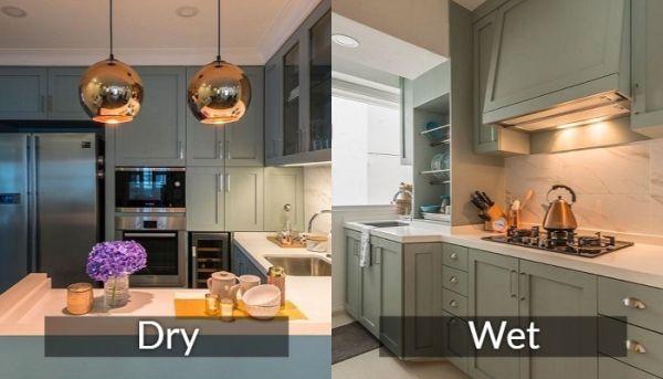 perbedaan dapur basah dan kering
