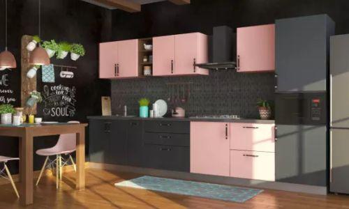desain dapur lurus
