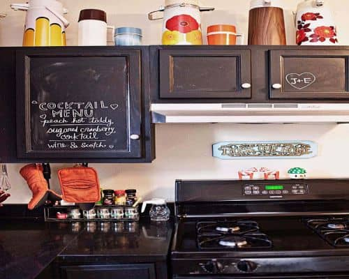 rak dapur coret kapur artistik