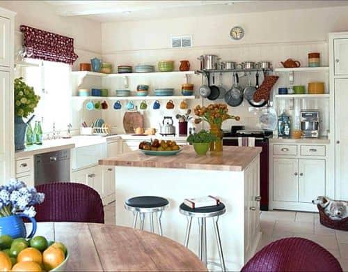 rak dapur terbuka