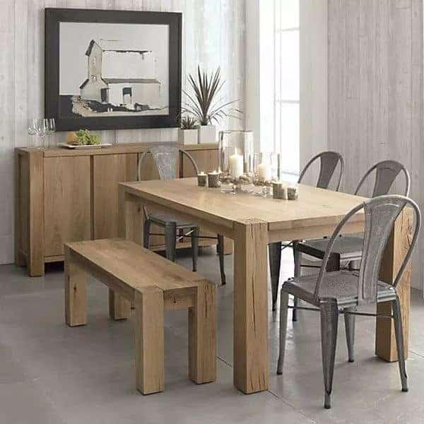 desain meja dapur pedesaan sederhana