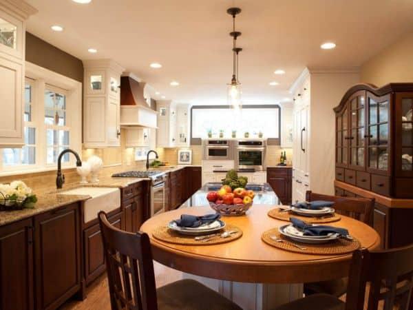 meja dapur bundar minimalis