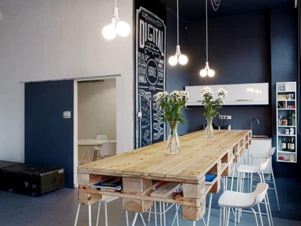 meja dapur dari pallet kayu