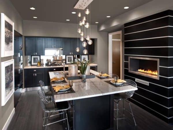 meja dapur cat hitam