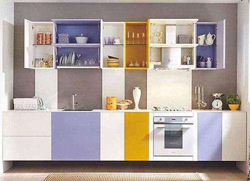 rak dapur lebih dari satu warna